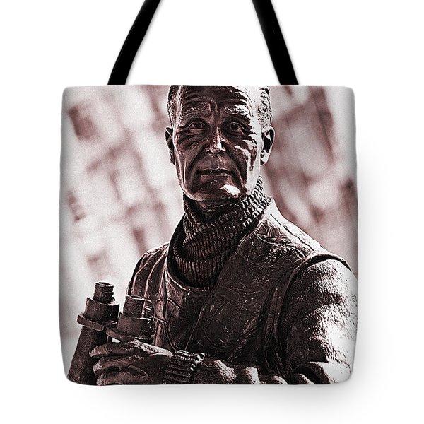 Captain F J Walker Tote Bag by Meirion Matthias
