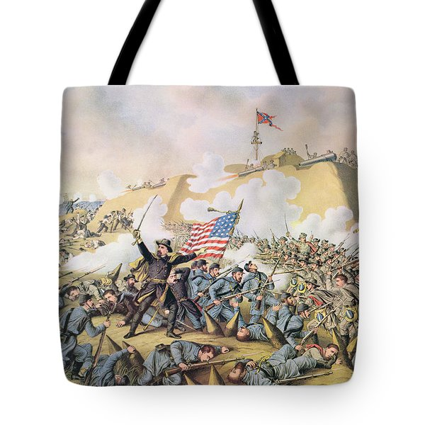 Capture Of Fort Fisher 15th January 1865 Tote Bag by American School