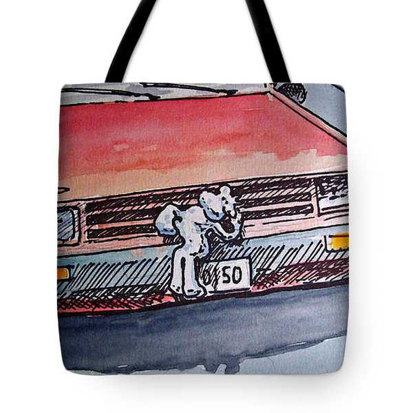 Car Hood Sketchbook Project Down My Street Tote Bag by Irina Sztukowski