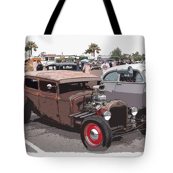Car Show 1928 Tote Bag by Steve McKinzie