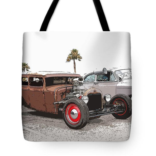Car Show Cool Tote Bag by Steve McKinzie