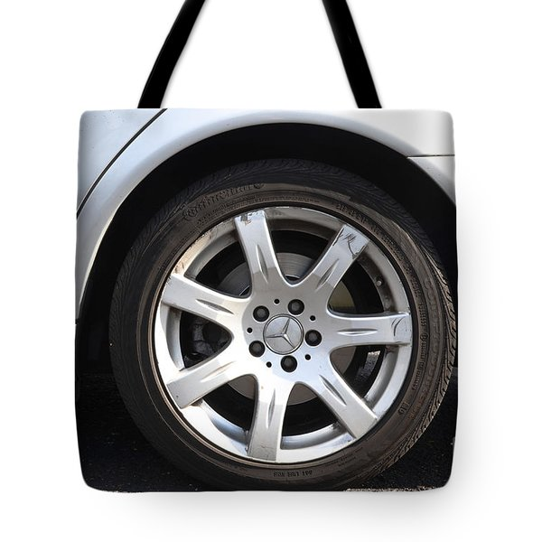 Car Wheel Tote Bag by Photo Researchers