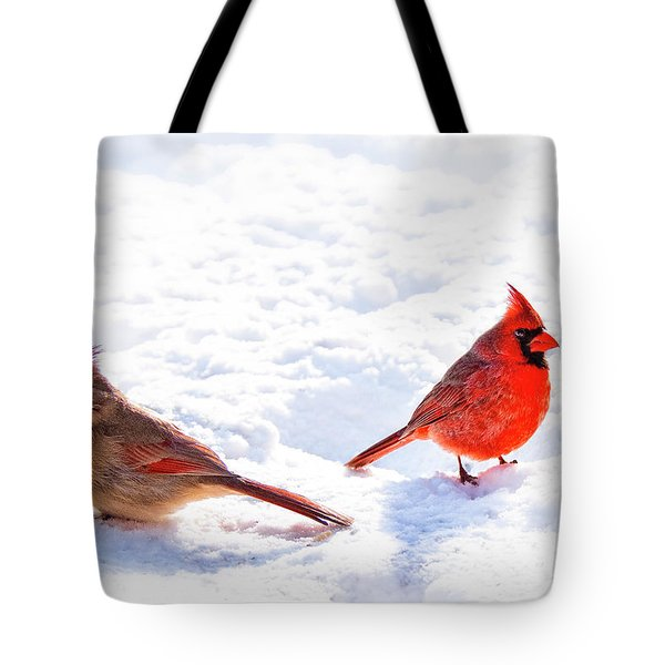 Cardinal Couple Tote Bag by Tamyra Ayles