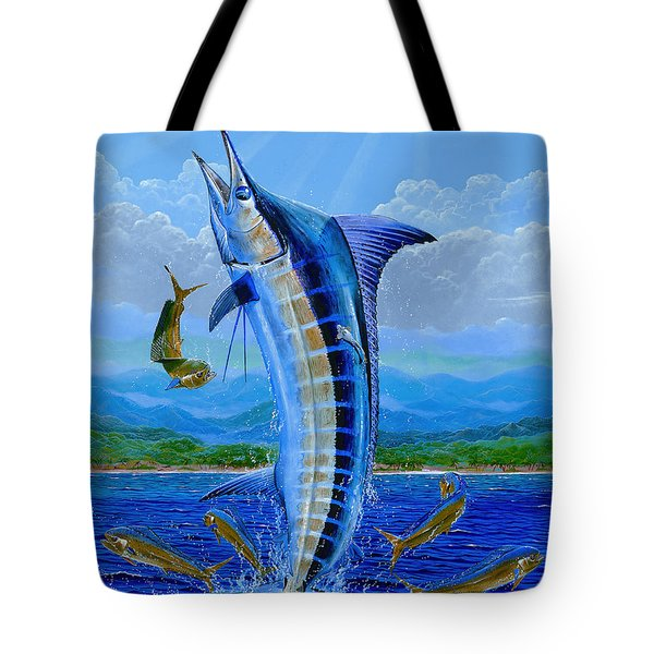 Caribbean Blue Tote Bag by Carey Chen