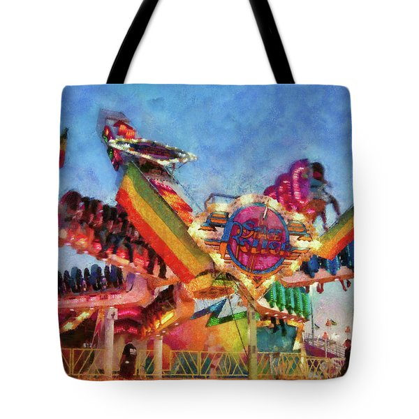 Carnival - A most colorful ride Tote Bag by Mike Savad
