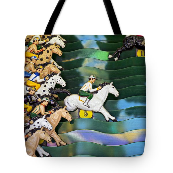 Carnival Horse Race Game Tote Bag by Garry Gay