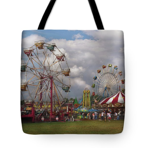 Carnival - Traveling Carnival Tote Bag by Mike Savad