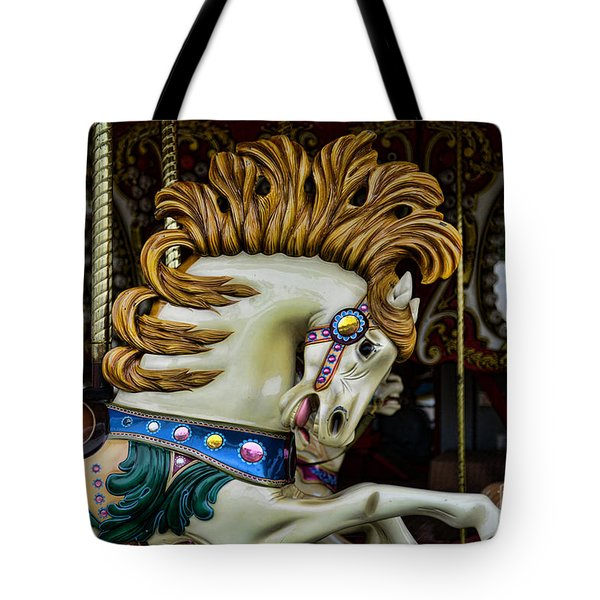 Carousel horse - 4 Tote Bag by Paul Ward