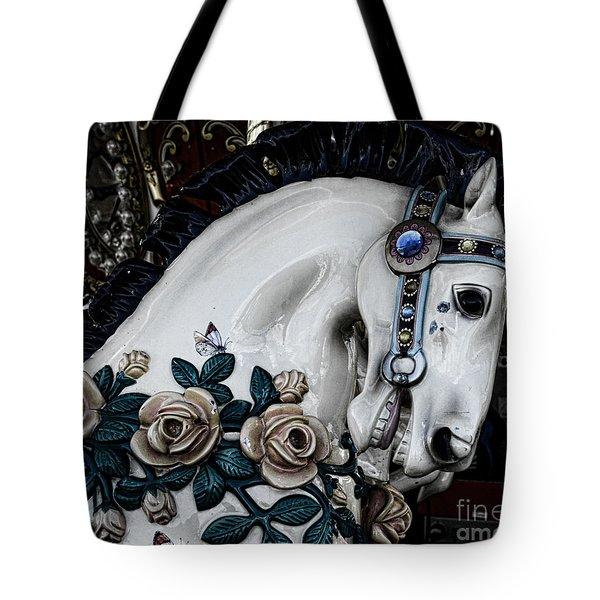 Carousel Horse - 8 Tote Bag by Paul Ward
