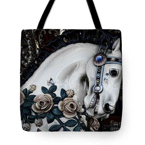 Carousel Horse - 8 Tote Bag by Paul Ward