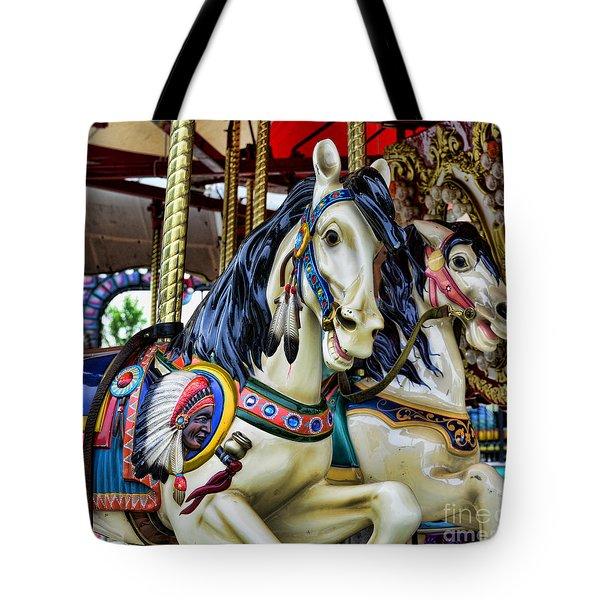 Carousel Horse 2 Tote Bag by Paul Ward