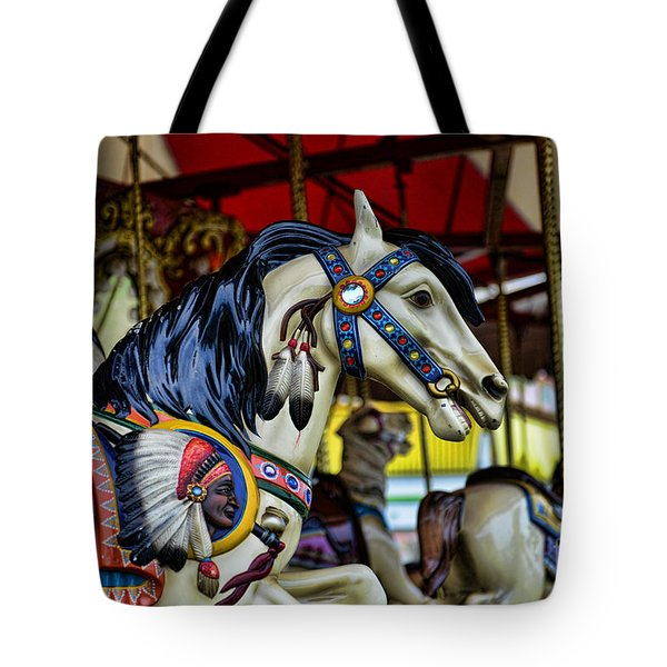 Carousel Horse 6 Tote Bag by Paul Ward