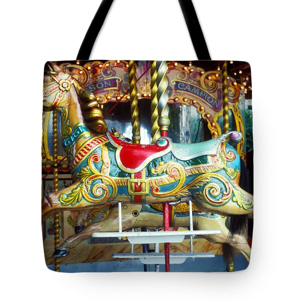 Carrouse horse Paris France Tote Bag by Garry Gay