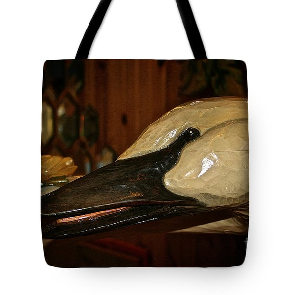 Carved Goose Tote Bag by Susan Herber