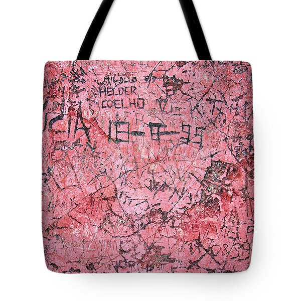 Carvings on Wall Tote Bag by Carlos Caetano