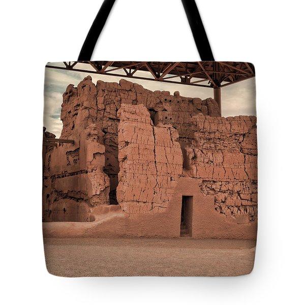 Casa Grande Ruins IIi Tote Bag by Donna Van Vlack