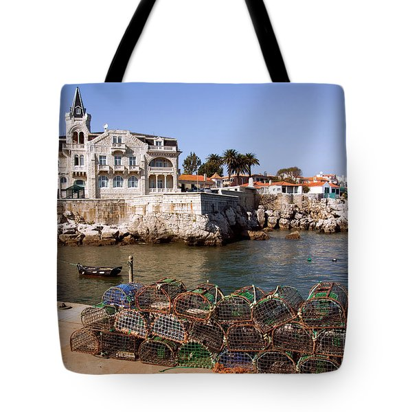 Cascais Bay Tote Bag by Carlos Caetano