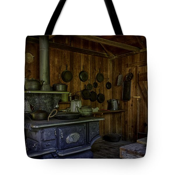Cast Iron Wood Stove Tote Bag by Lynn Palmer