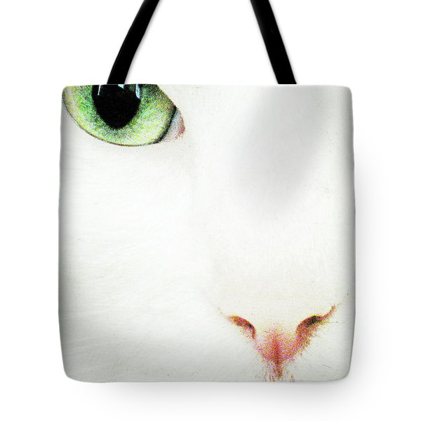 Cat Eye Tote Bag by Julie Niemela
