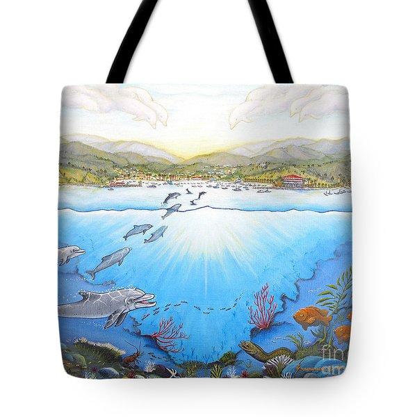 Catalina Island California Tote Bag by Jerome Stumphauzer