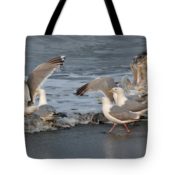 Catch Me If You Can  Tote Bag by Debra  Miller