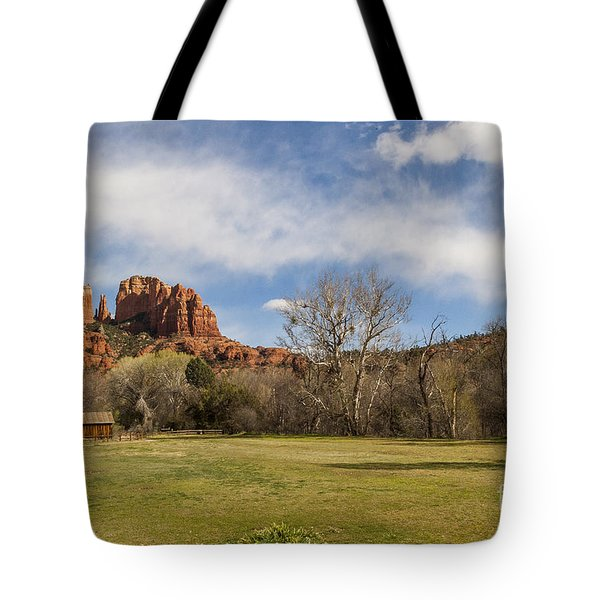 Cathedral Rock From The Park Tote Bag by Darcy Michaelchuk