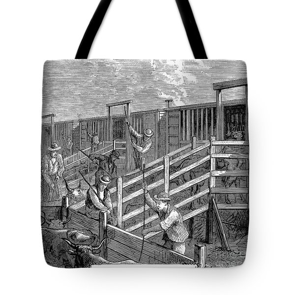 Cattle Drive, 1874 Tote Bag by Granger