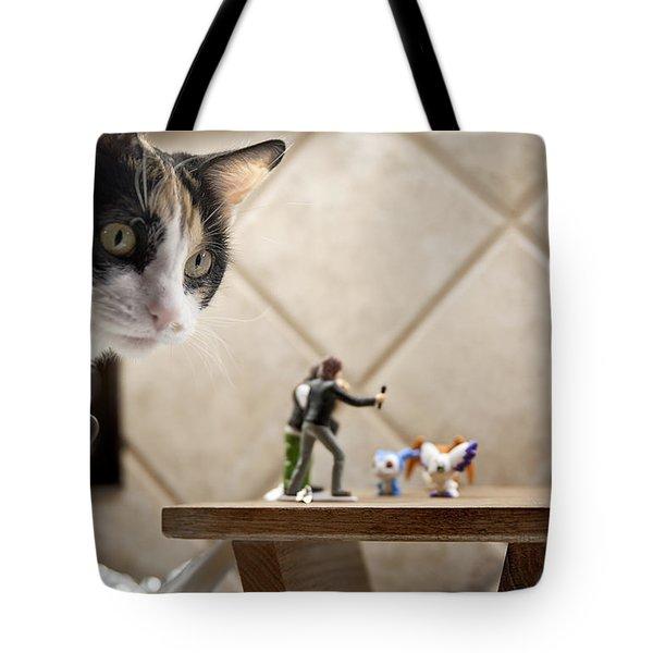 Catzilla Tote Bag by Melany Sarafis