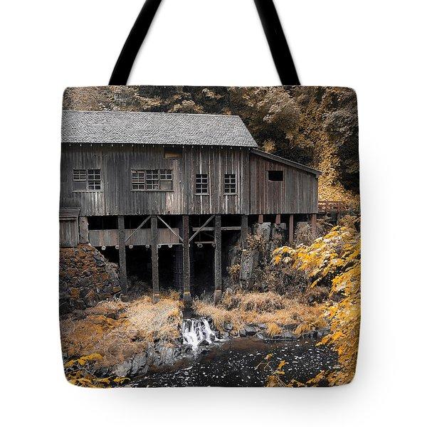 Cedar Creek Grist Mill Tote Bag by Steve McKinzie