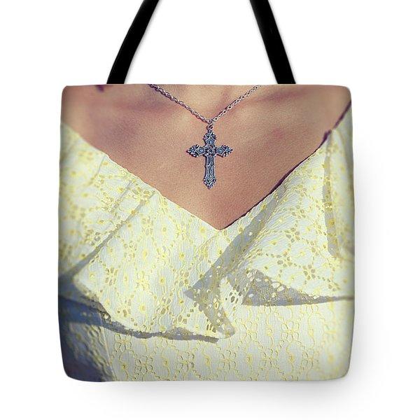 Celctic Cross Tote Bag by Joana Kruse