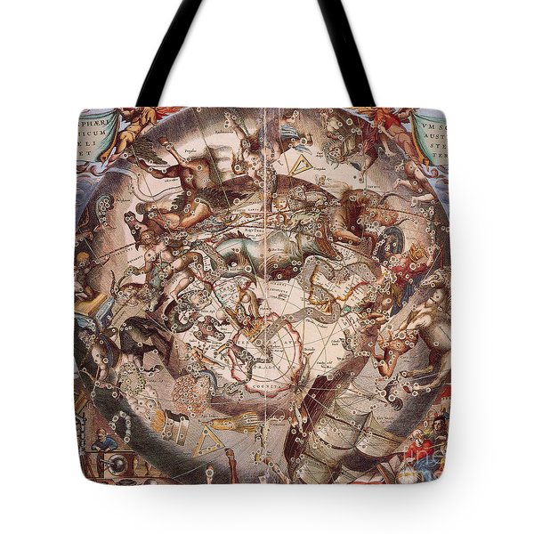 Cellariuss Constellations, 1660 Tote Bag by Science Source