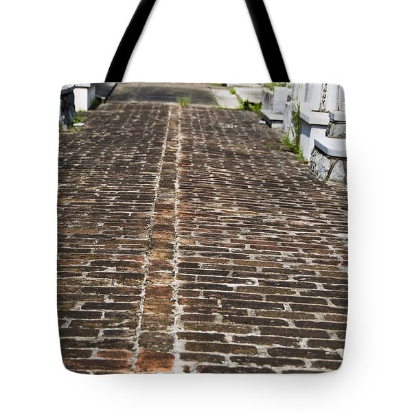 Cemetary Path Tote Bag by Ray Laskowitz