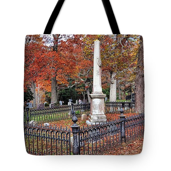 Cemetery Scenery Tote Bag by Janice Drew