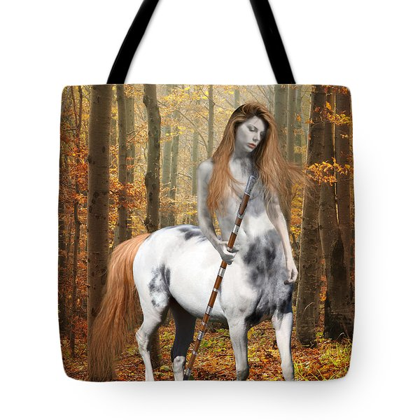 Centaur Series Autumn Walk Tote Bag by Nikki Marie Smith