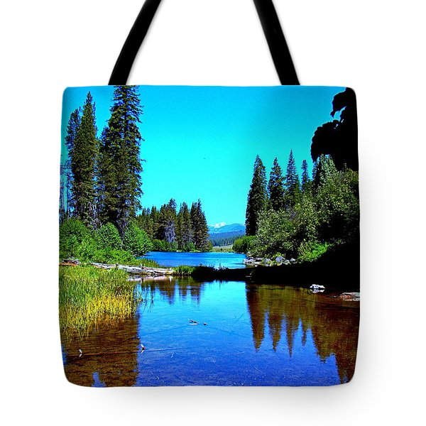 Central Oregon Tranquility Tote Bag by Nick Kloepping