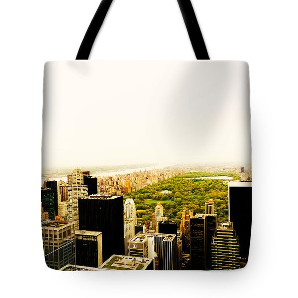 Central Park And The New York City Skyline From Above Tote Bag by Vivienne Gucwa