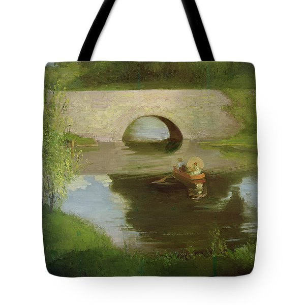Central Park Tote Bag by George Luks