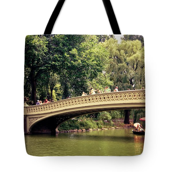 Central Park Romance - Bow Bridge - New York City Tote Bag by Vivienne Gucwa