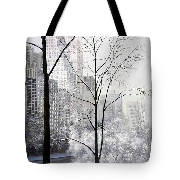 Central Park Vertical Tote Bag by Diane Romanello