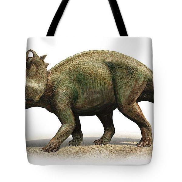 Centrosaurus Apertus, A Prehistoric Era Tote Bag by Sergey Krasovskiy