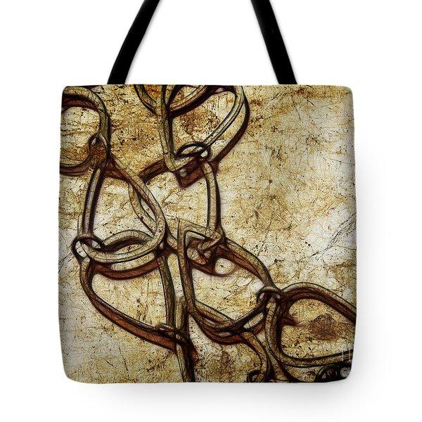 Chain Links Tote Bag by Judi Bagwell
