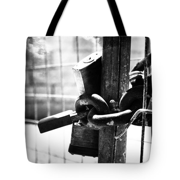 Chained Gate Tote Bag by Phill Petrovic