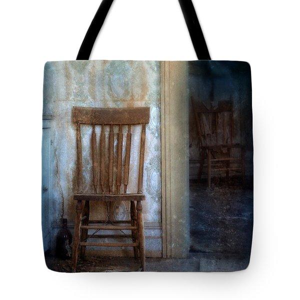 Chairs In Rundown House Tote Bag by Jill Battaglia