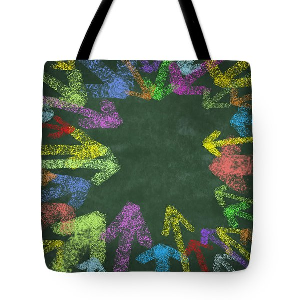 chalk drawing colorful arrows Tote Bag by Setsiri Silapasuwanchai