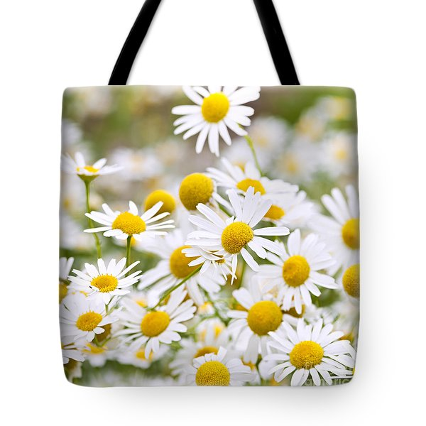 Chamomile Flowers Tote Bag by Elena Elisseeva