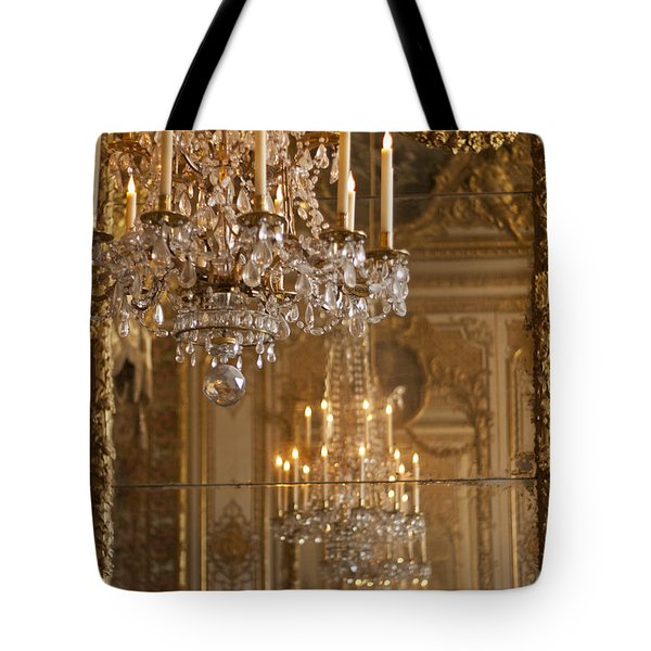 Chandelier at Versailles Tote Bag by Nomad Art And  Design