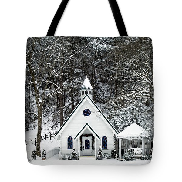 Chapel in the Snow - D007592 Tote Bag by Daniel Dempster