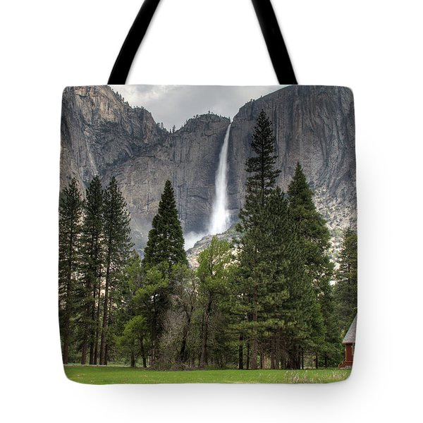 Chapel In The Valley Tote Bag by Sue Karski