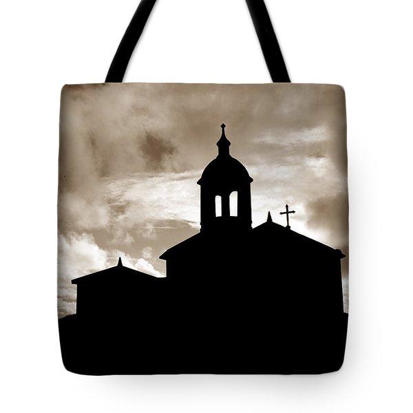 Chapel Silhouette Tote Bag by Gaspar Avila