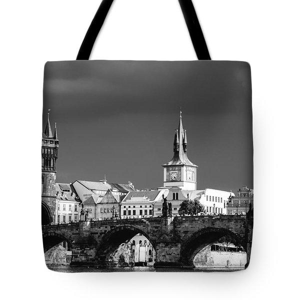 Charles Bridge Prague Czech Republic Tote Bag by Matthias Hauser